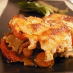 Prosciutto-chicken raviolli lasagna with mozarella carrot bell pepper (25)