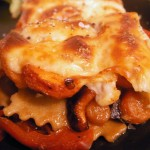Prosciutto-chicken raviolli lasagna with mozarella carrot bell pepper (29)