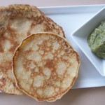Mini crepes with zucchini puree (20)
