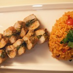 Pesto-rolled pork with spanish rice (19)