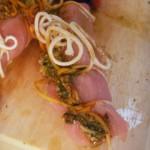 Pesto-rolled pork with spanish rice (4)
