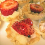 Strawberries & cream filo cups (11)