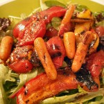 Balsamic grilled veggie salad with herb-grilled steak  salmon (13)