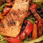 Balsamic grilled veggie salad with herb-grilled steak  salmon (24)