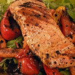 Balsamic grilled veggie salad with herb-grilled steak  salmon (26)
