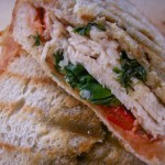 Bell pepper spinach panino