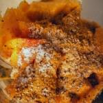 Curry mango marinade pork loin with spinach-cucumber-strawberry salad (1)