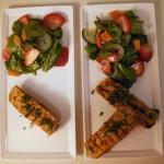 Curry mango marinade pork loin with spinach-cucumber-strawberry salad (23)