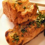 Curry mango marinade pork loin with spinach-cucumber-strawberry salad (25)