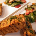 Curry mango marinade pork loin with spinach-cucumber-strawberry salad (35)