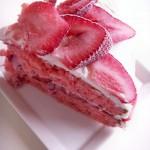 Triple strawberry mascarpone birthday cake (54)