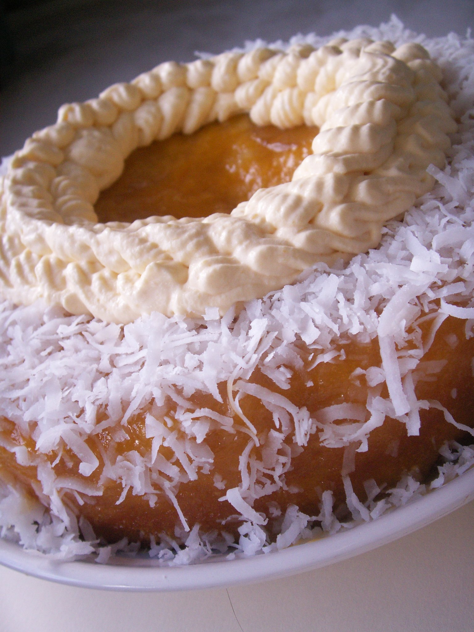 Genoise With Coconut Cream And Caramelized Pineapple And Mango Recipe ...