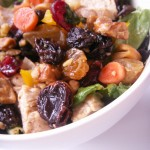 Warm pear chicken and cashew spring salad (25)