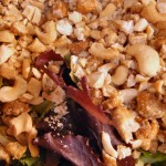 Warm pear chicken and cashew spring salad (6)