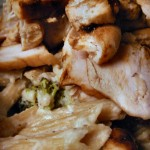 White wine broccoli cream chicken pasta salad