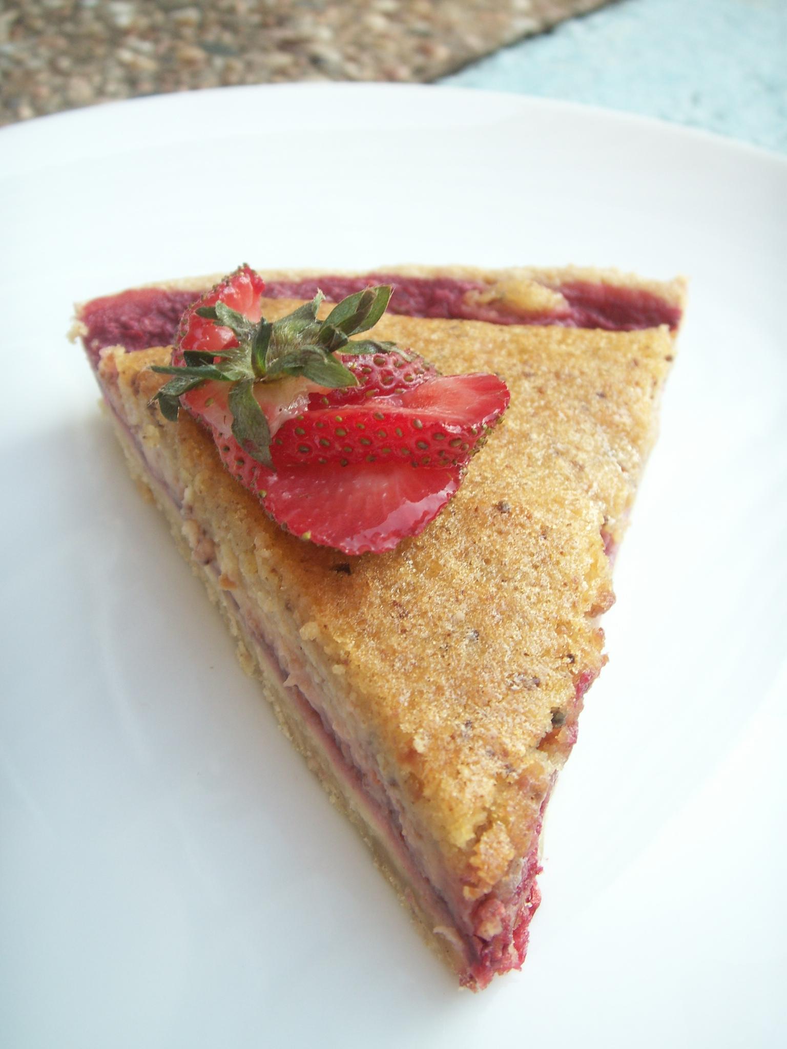 Raspberry-Strawberry & Almond Tarte
