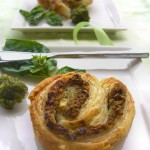 Salty pesto palmiers