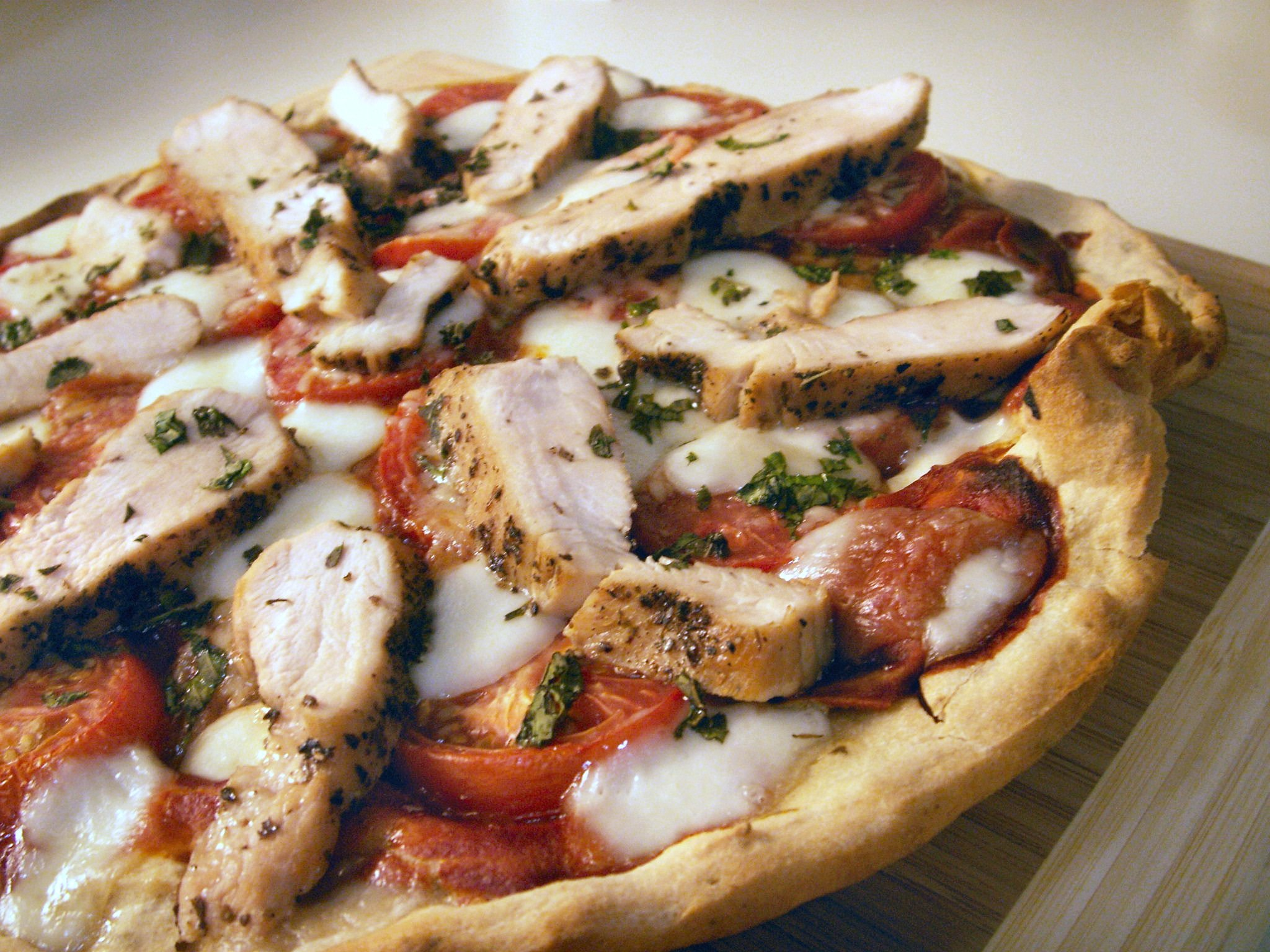 Gluten-Free Chicken Margherita Pizza