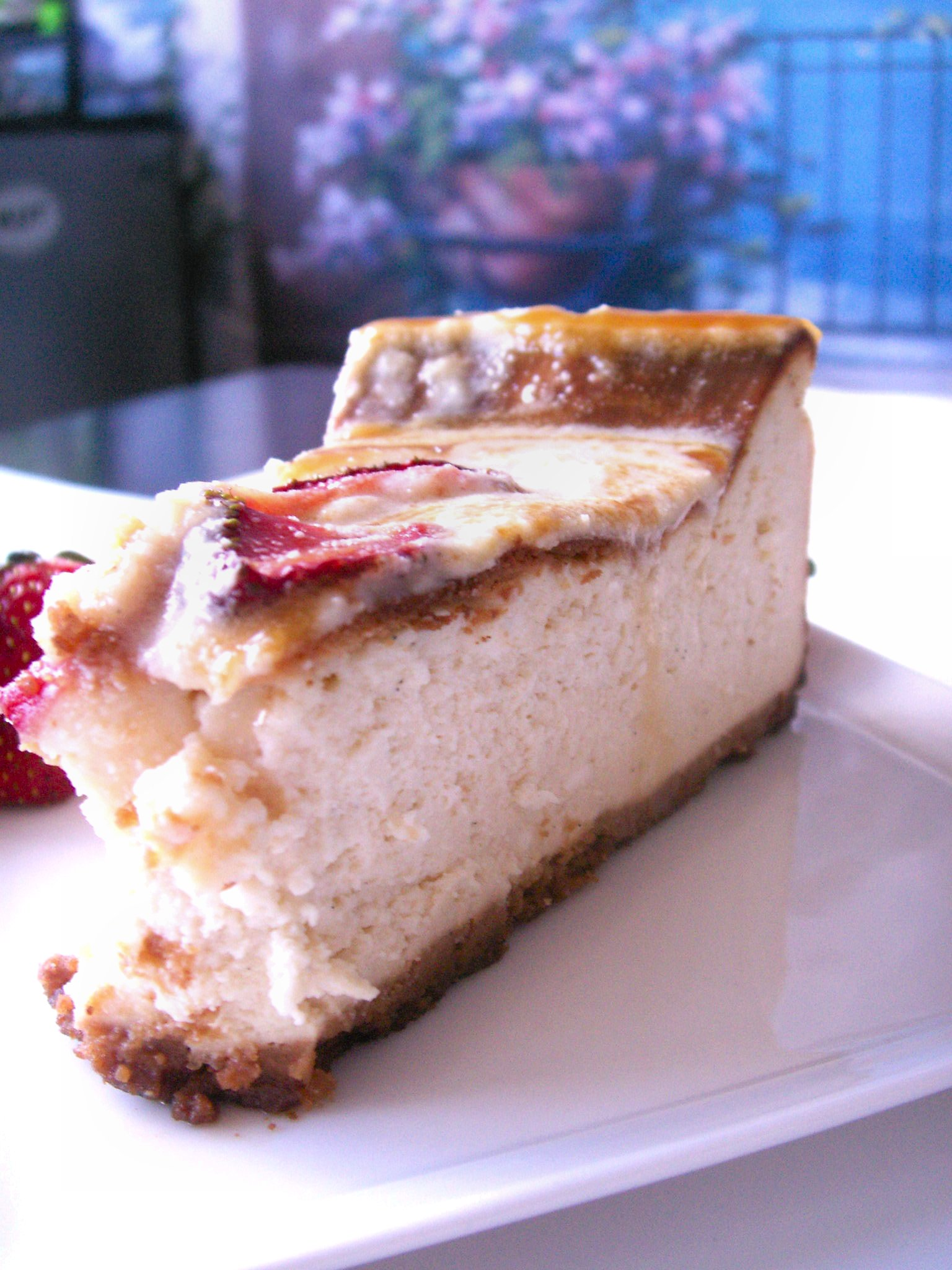 Vanilla Bean White Chocolate Cheesecake