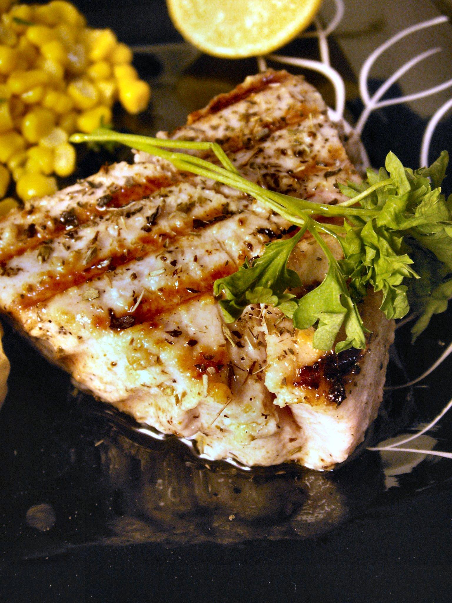 Yogurt-Herb Yellowfin Tuna
