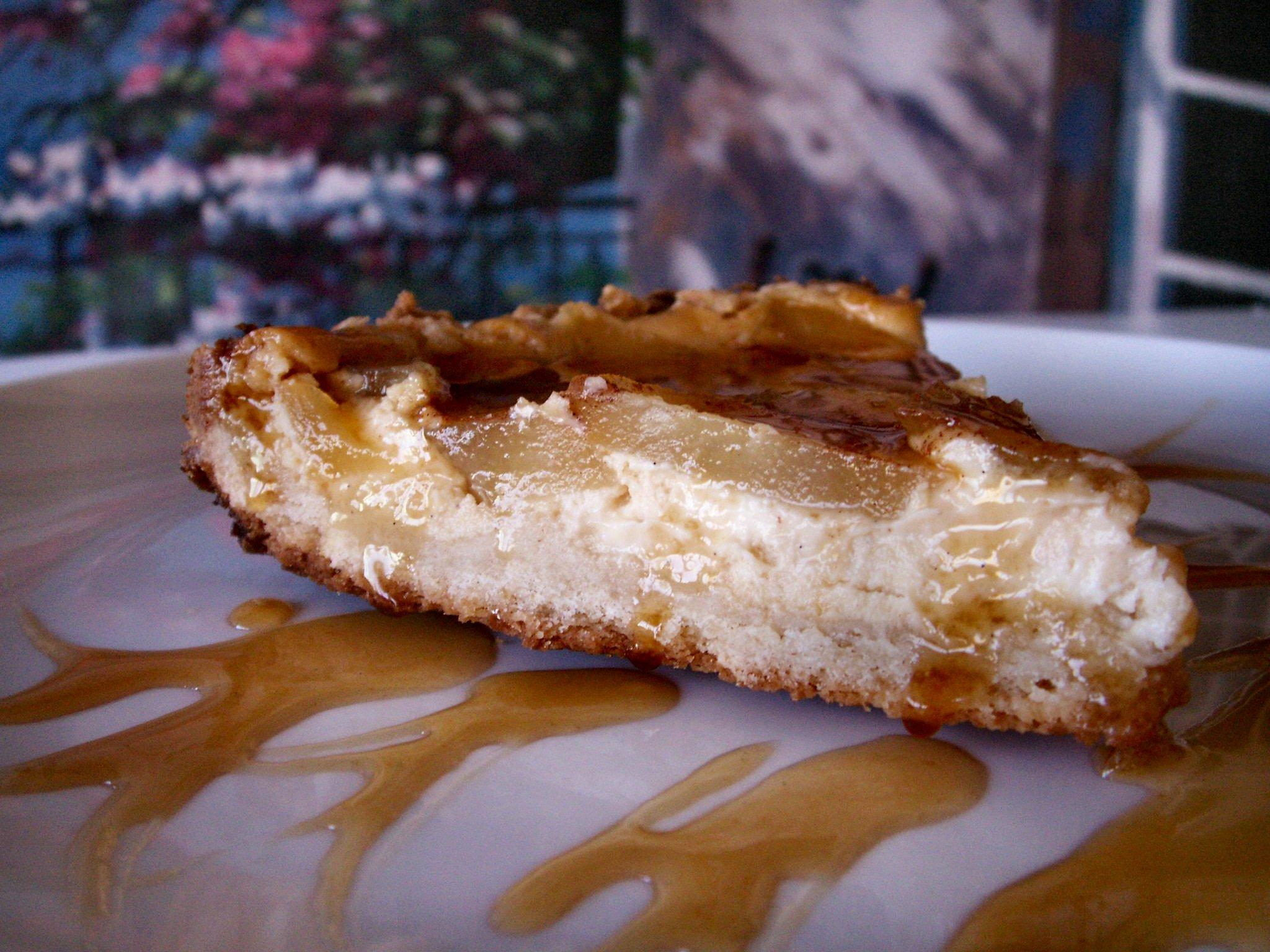 Pear Cheesecake Torte